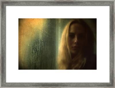 Another Face In A Window II Framed Print by Taylan Apukovska
