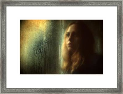 Another Face In A Window Framed Print