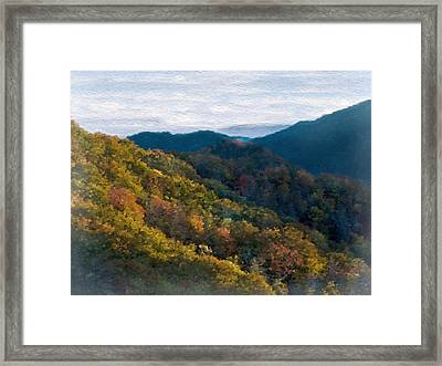 Another Fall Smoky Mountain Scenic Framed Print