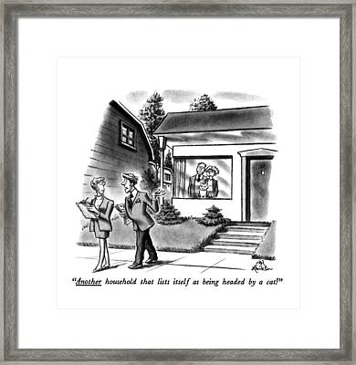 Another Household That Lists Itself Framed Print