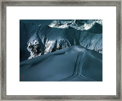 Another Late Day In The Mountains  Framed Print