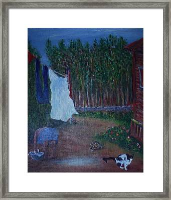 Another Laundry Day Framed Print by Angel de Paz