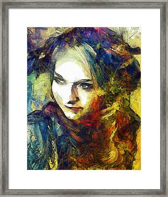 Framed Print featuring the drawing Another Lonely Day by Joe Misrasi