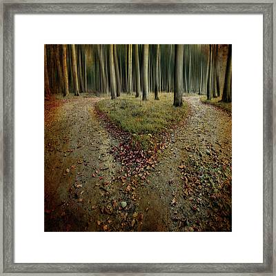 [another Lonely Heart In Haunted Woods] Framed Print