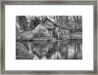 Another Look At The Mabry Mill Framed Print by Gregory Ballos