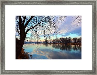 Framed Print featuring the photograph Another Morning Reflection by Lynn Hopwood
