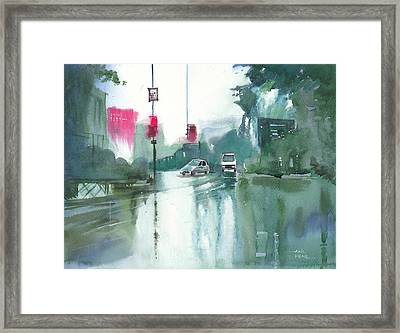Another Rainy Day Framed Print by Anil Nene