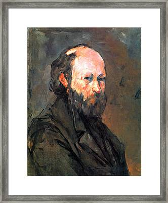 Another Self Portrait By Cezanne Framed Print by John Peter