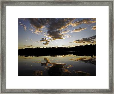 Another Sunset In The Jungle Framed Print by Kurt Van Wagner