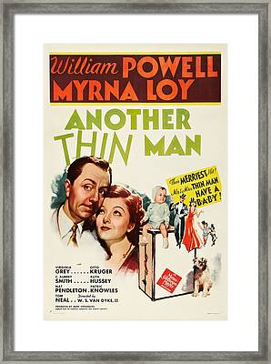 Another Thin Man, William Powell, Myrna Framed Print by Everett