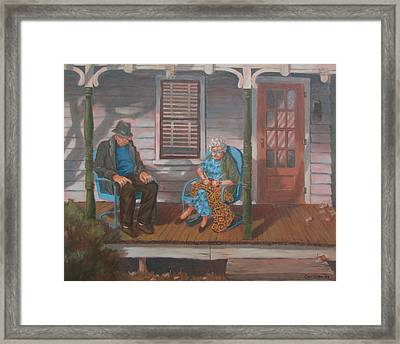 Another Time Framed Print by Tony Caviston