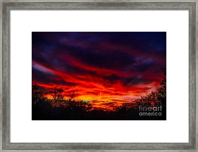 Another Tucson Sunset Framed Print by Mark Myhaver