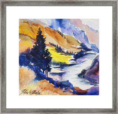 Another View Of The Truckee  Framed Print by Therese Fowler-Bailey