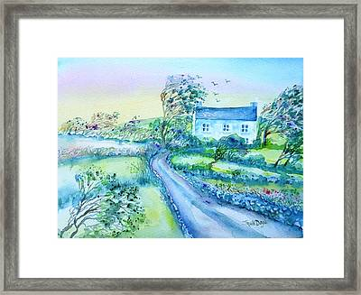 Another Windy Day On Cleare Island Ireland   Framed Print by Trudi Doyle