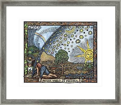Another World Is Possible Framed Print by Ricardo Levins Morales