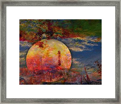 Another World Moon Abstract Framed Print