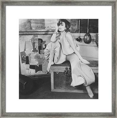 Anouk Aimie Wearing Glans Pajamas Framed Print