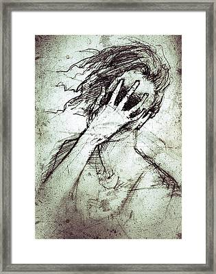 Anquish Framed Print by H James Hoff