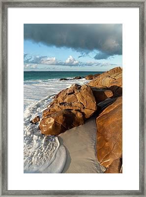 Anse Victorin, Fregate Island Framed Print by Sergio Pitamitz