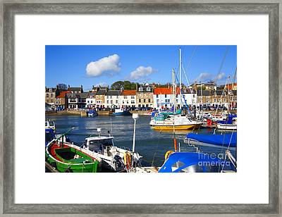 Anstruther Harbour Framed Print by Craig B