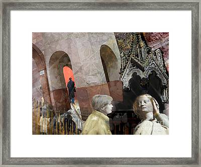 Answers For Saints Framed Print by CR Leyland