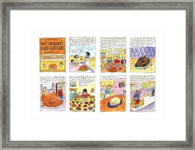 Answers To The Most Frequently Asked Questions Framed Print by Roz Chast