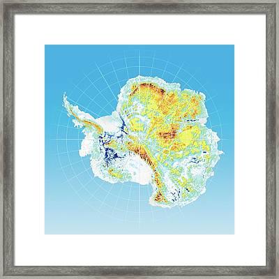 Antarctic Bedrock Framed Print by Henning Dalhoff