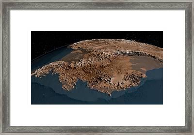 Antarctic Bedrock Framed Print by Nasa/goddard Space Flight Center