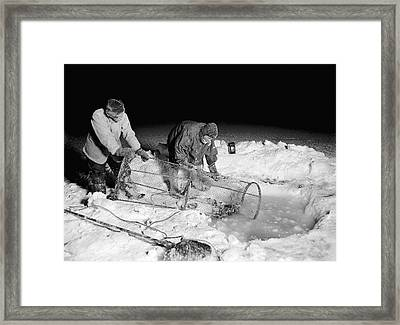 Antarctic Expedition Fishing Framed Print by Scott Polar Research Institute