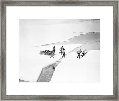 Antarctic Geological Exploration Framed Print