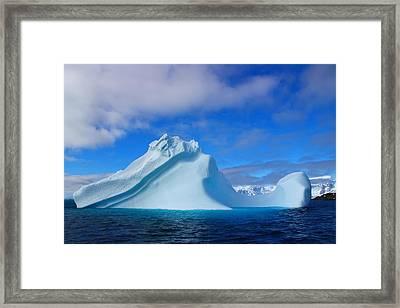 Antarctic Iceberg Framed Print by FireFlux Studios