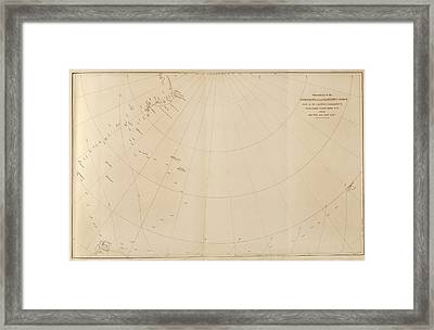 Antarctic Magnetism Observations Framed Print by King's College London