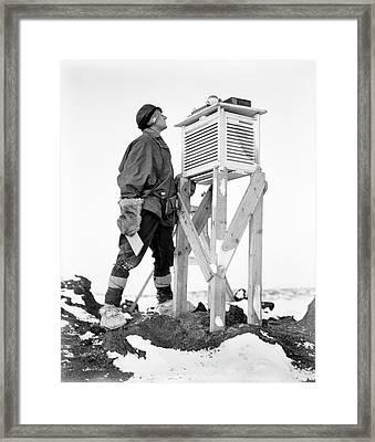 Antarctic Meteorology Research Framed Print