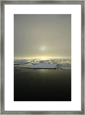 Antarctic Misty Sunset Framed Print