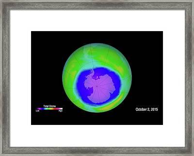 Antarctic Ozone Hole Maximum Framed Print by Nasa/goddard Space Flight Center