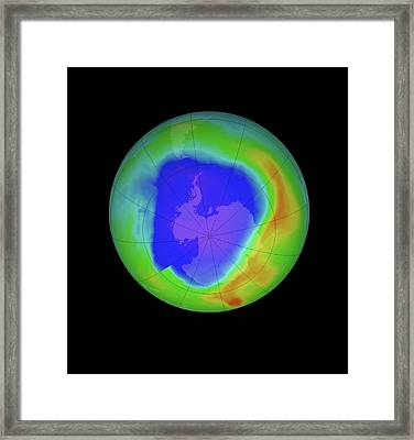 Antarctic Ozone Hole Framed Print