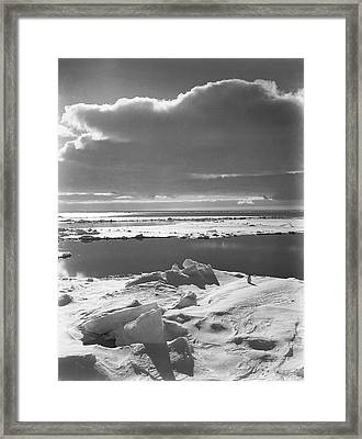 Antarctic Pack Ice At Christmas Framed Print