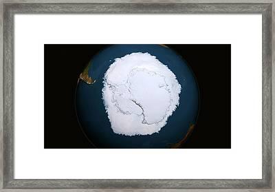 Antarctic Sea Ice Maximum Framed Print
