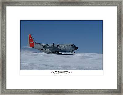 Antarctic Take-off Framed Print by David Barringhaus