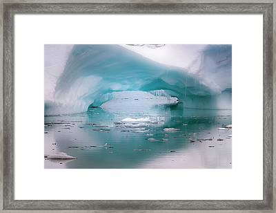 Antarctica Artistic Open Arch In An Framed Print by Janet Muir