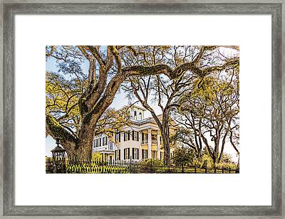 Antebellum Mansion Framed Print