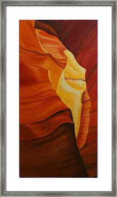 Antelope Canyon 1 Framed Print by Paul Santander