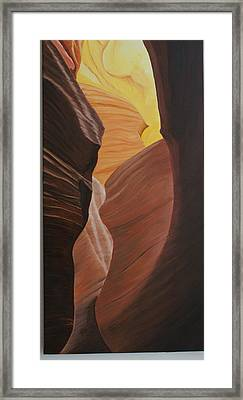 Antelope Canyon 2 Framed Print by Paul Santander