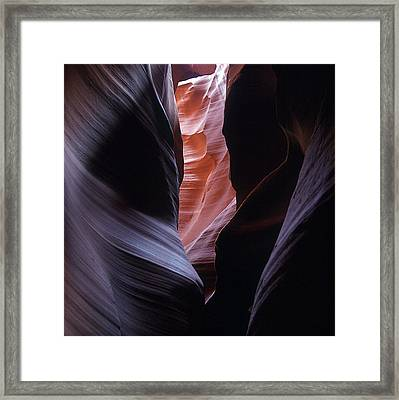 Framed Print featuring the photograph Antelope Canyon 5 by Jeff Brunton