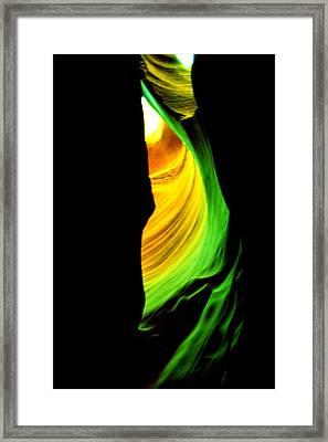 Antelope Canyon Abstract Framed Print by Aidan Moran