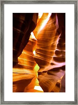 Antelope Canyon Page Arizona Framed Print by Aidan Moran