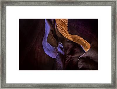 Antelope Canyon Colors Framed Print
