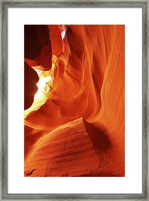 Framed Print featuring the photograph Antelope Canyon In Winter Light 1 by Alan Vance Ley