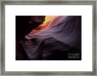 Antelope Canyon Movement In Stone Framed Print by Bob Christopher