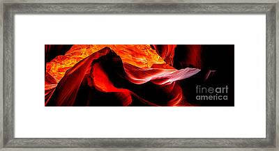Antelope Canyon Rock Wave Framed Print